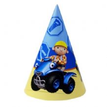 'Bob The Builder' Cone Hats PK1